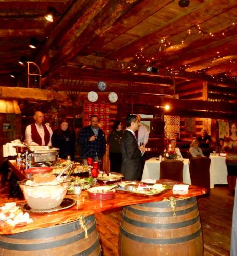 December 11, 2015 - First fundraising event.  Dr. A Mashaw speaking at the first fundraising event held t the Burner Barn, and underwritten by Luray Caverns