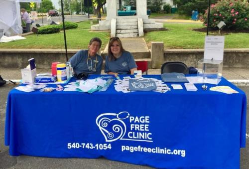 Mayfest 2019, Abby Ellis, LPN and Amy Painter, Office Manager